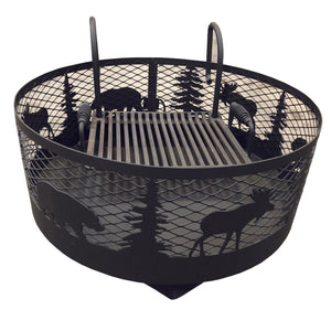 Fire Pit: Bear/Moose Small