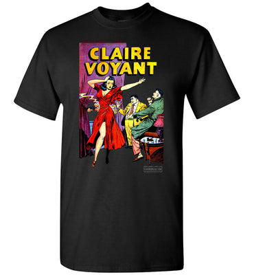 Claire Voyant No.2 T-Shirt (Unisex Plus, Dark Colors)