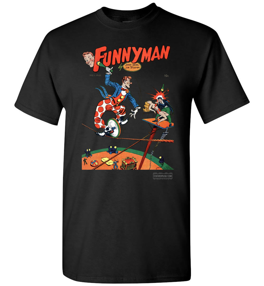 Funnyman No.5 T-Shirt (Unisex, Dark Colors)