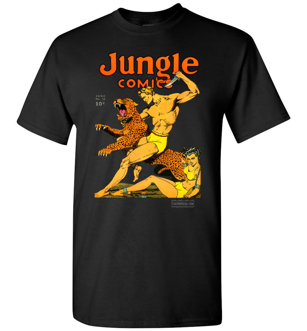 Jungle Comics No.18 T-Shirt (Unisex, Dark Colors)