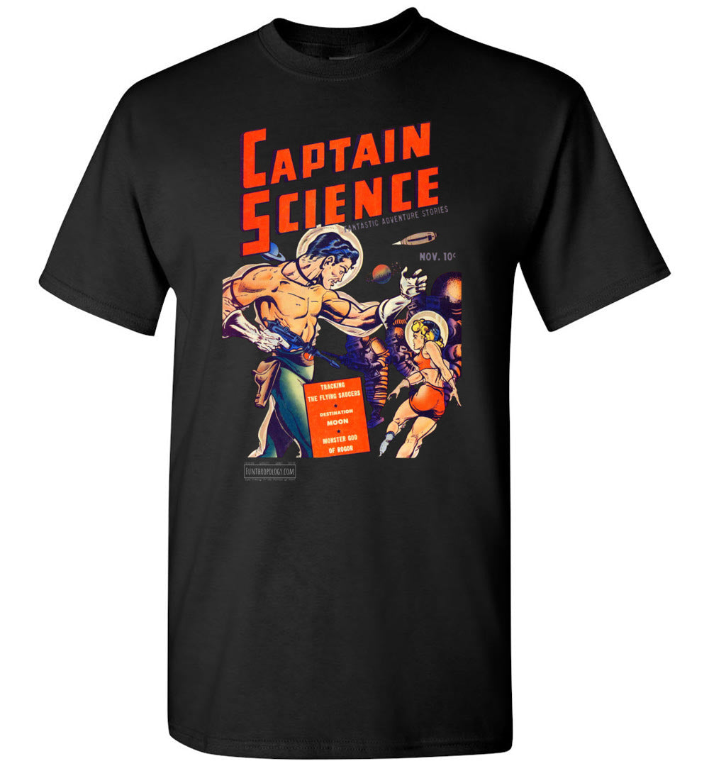 Captain Science No.1 T-Shirt (Unisex, Dark Colors)