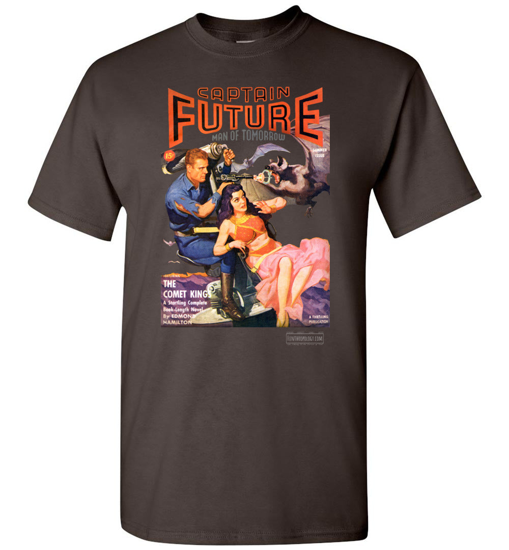 Captain Future No.11 T-Shirt (Unisex, Dark Colors)