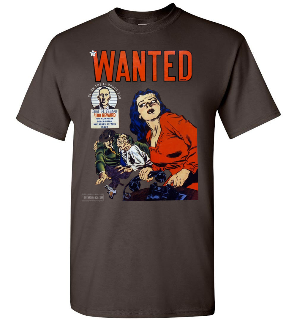Wanted Comics No.28 T-Shirt (Unisex, Dark Colors)