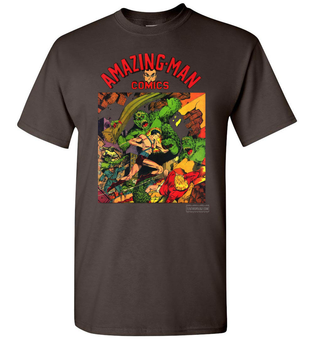 Amazing-Man Comics No.22 T-Shirt (Youth, Dark Colors)