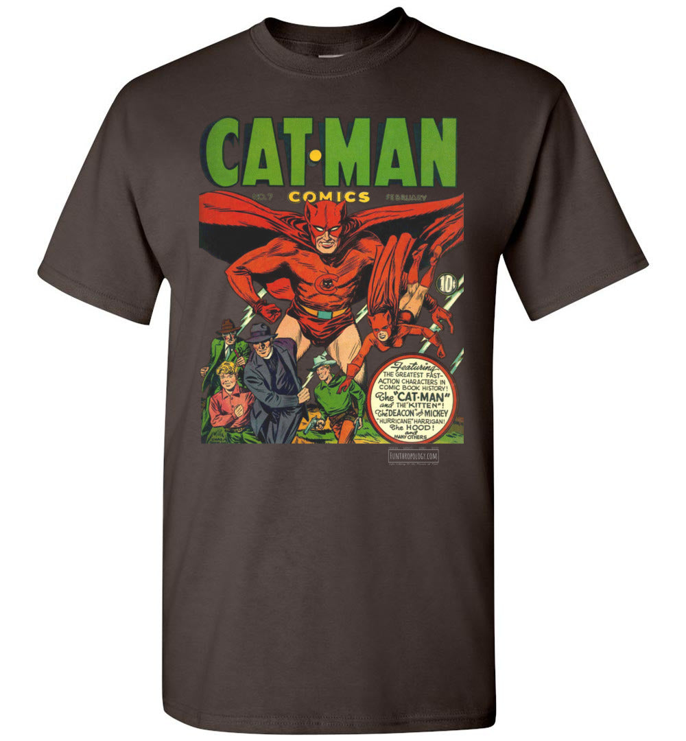 Cat-Man No.7 T-Shirt (Unisex, Dark Colors)