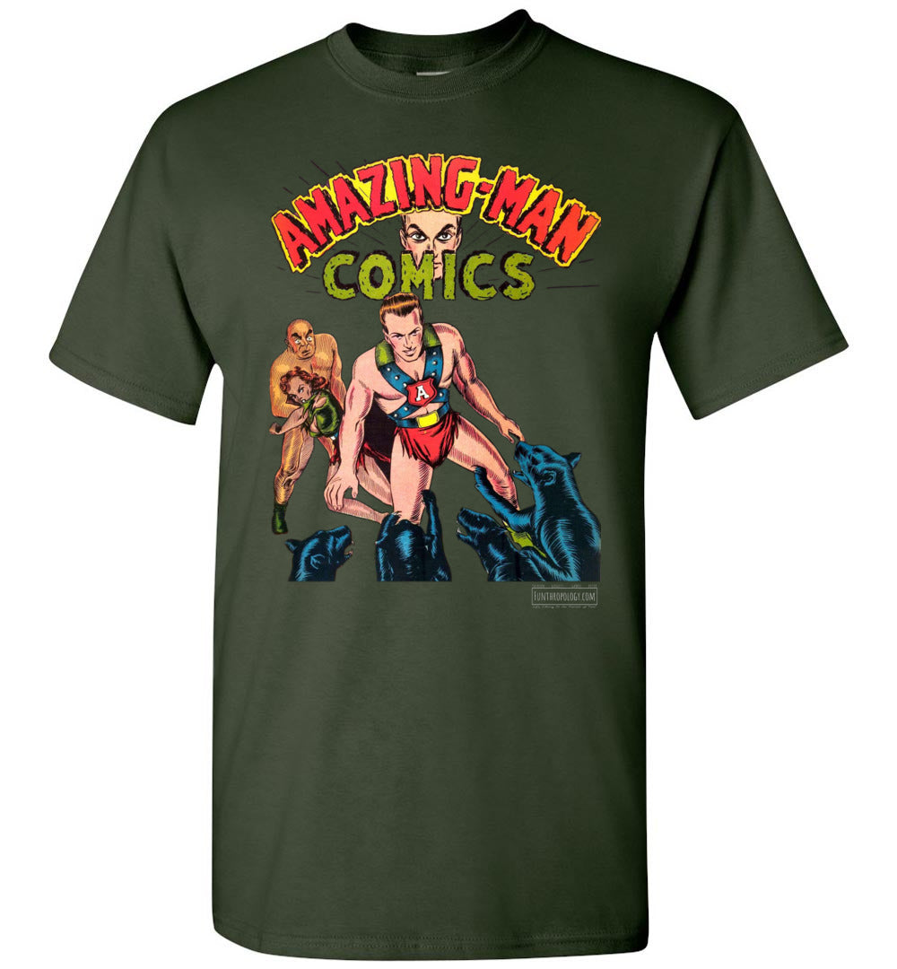 Amazing-Man Comics No.11 T-Shirt (Youth, Dark Colors)