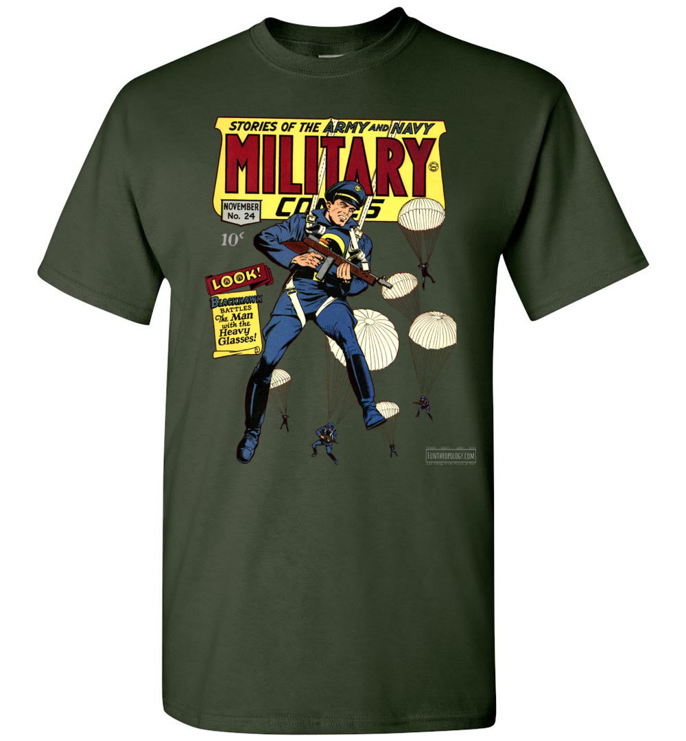 Military Comics No.24 T-Shirt (Youth, Dark Colors)