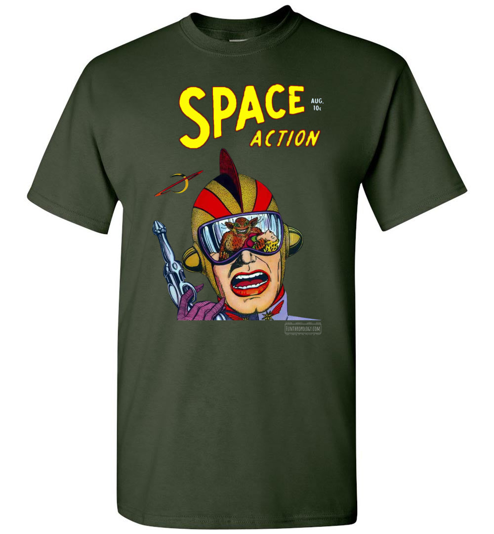 Space Action No.2 T-Shirt (Unisex, Dark Colors)