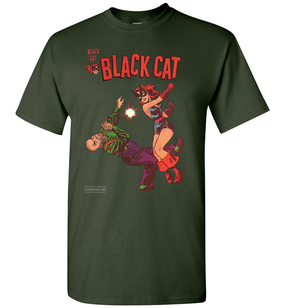 Black Cat No.4 T-Shirt (Unisex, Dark Colors)