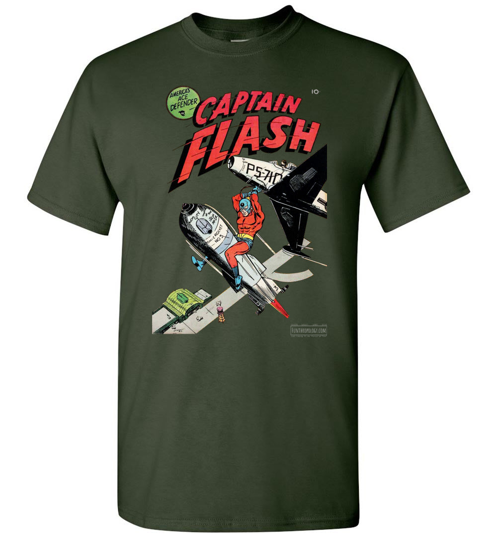 Captain Flash No.1 T-Shirt (Unisex, Dark Colors)
