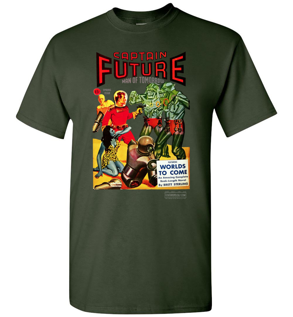 Captain Future No.14 T-Shirt (Unisex, Dark Colors)