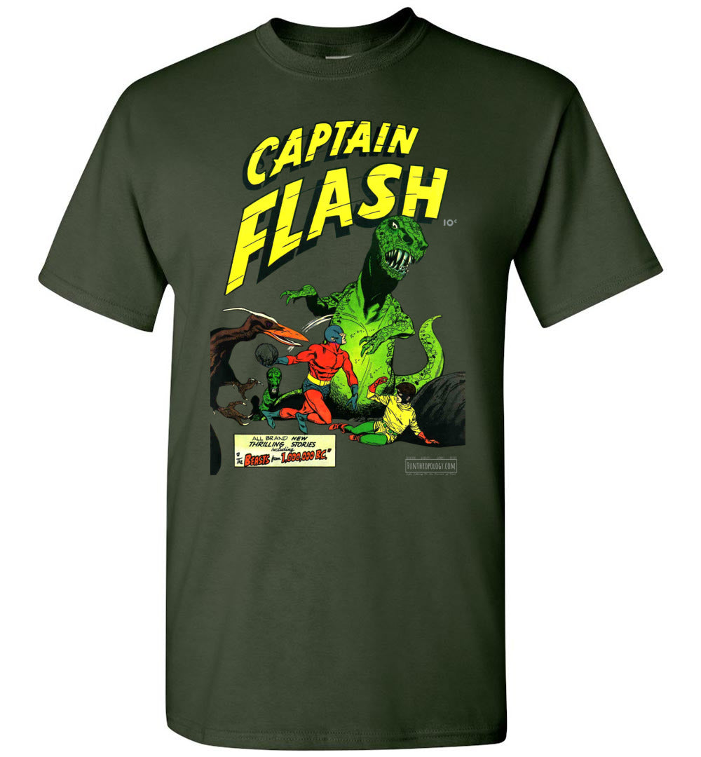 Captain Flash No.3 T-Shirt (Unisex, Dark Colors)