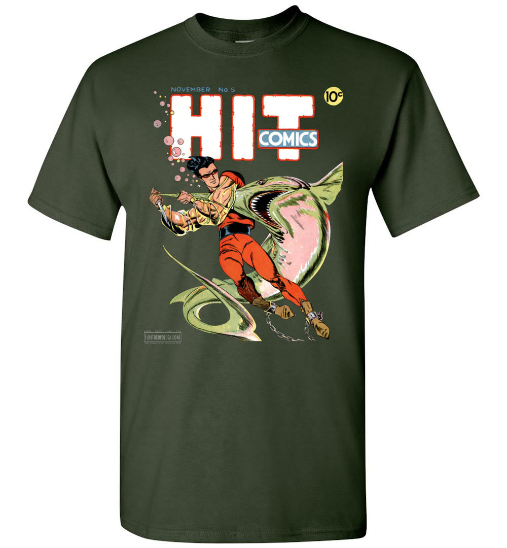 Hit Comics No.5 T-Shirt (Unisex, Dark Colors)