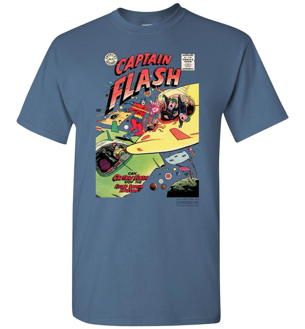 Captain Flash No.4 T-Shirt (Unisex, Light Colors)