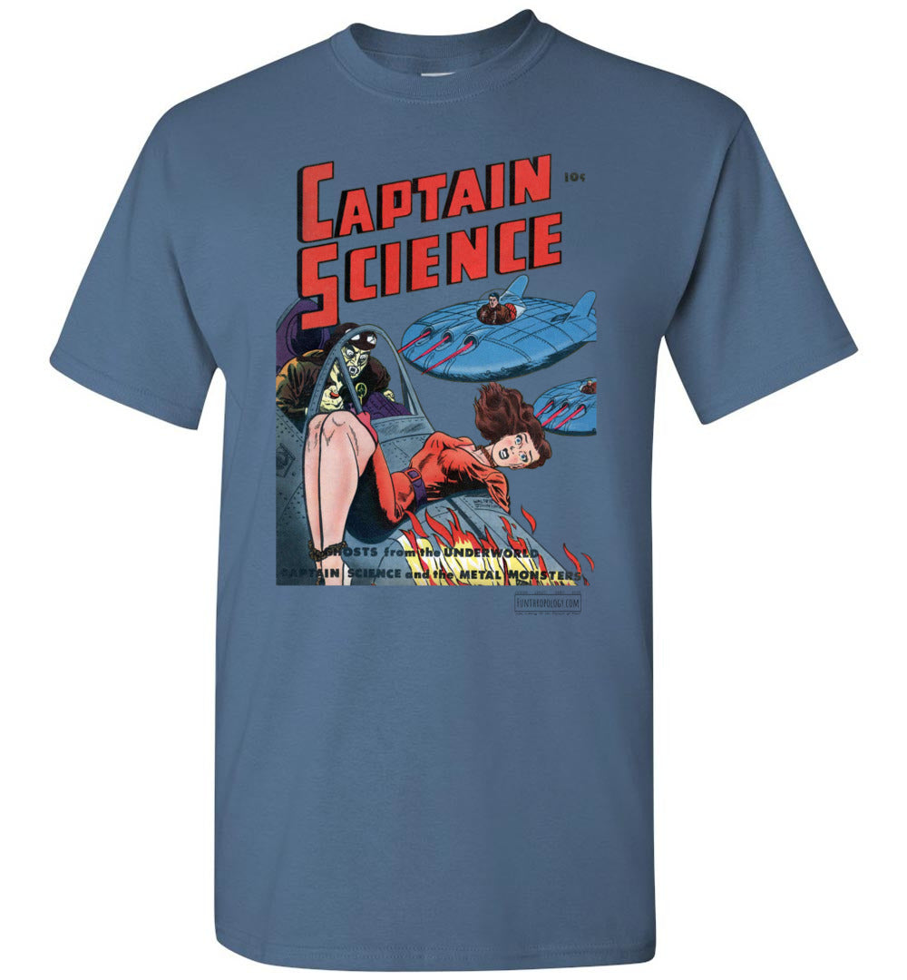 Captain Science No.3 T-Shirt (Unisex, Light Colors)
