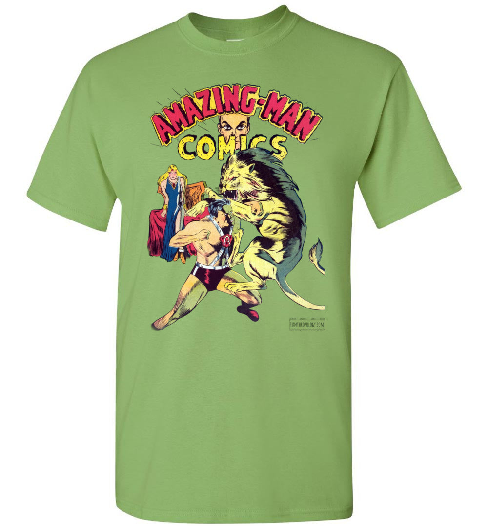 Amazing-Man Comics No.14 T-Shirt (Youth, Light Colors)