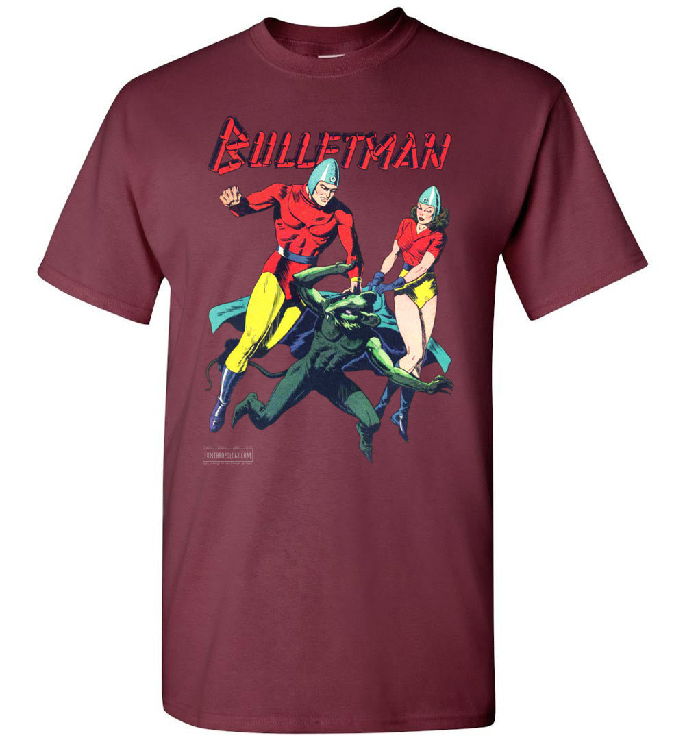 Bulletman No.7 T-Shirt (Unisex, Dark Colors)