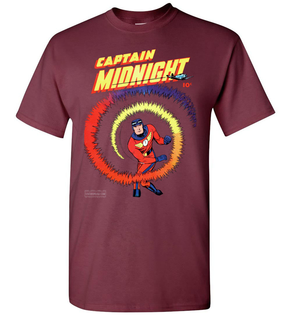 Captain Midnight No.40 T-Shirt (Unisex, Dark Colors)