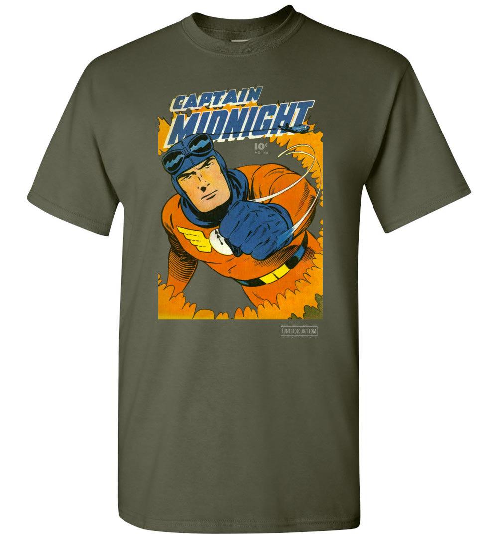 Captain Midnight No.46 T-Shirt (Unisex, Dark Colors)