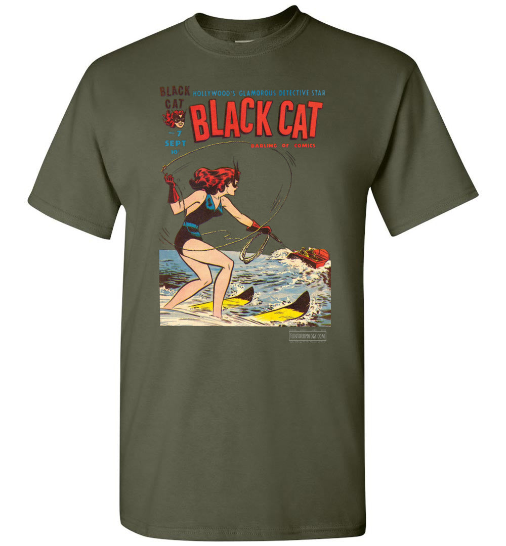 Black Cat No.7 T-Shirt (Unisex, Dark Colors)