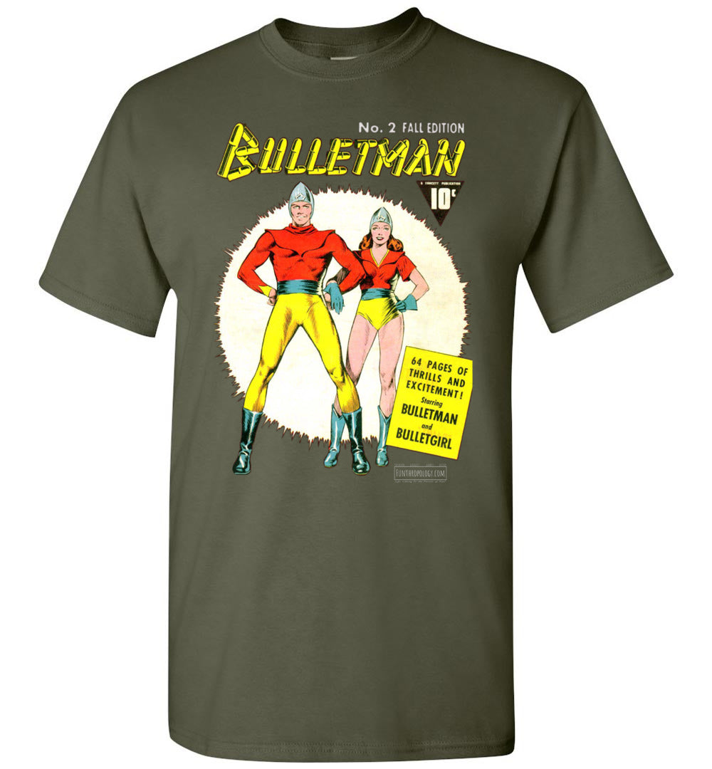 Bulletman No.2 T-Shirt (Unisex, Dark Colors)