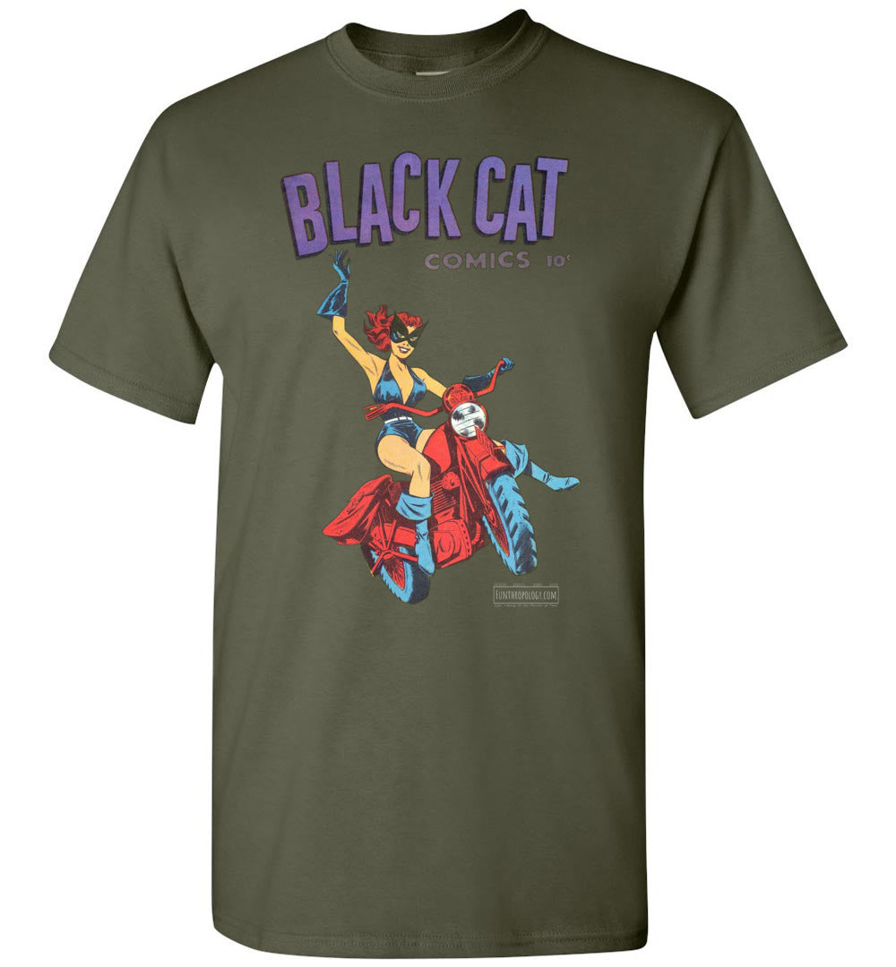 Black Cat No.1 T-Shirt (Unisex, Dark Colors)