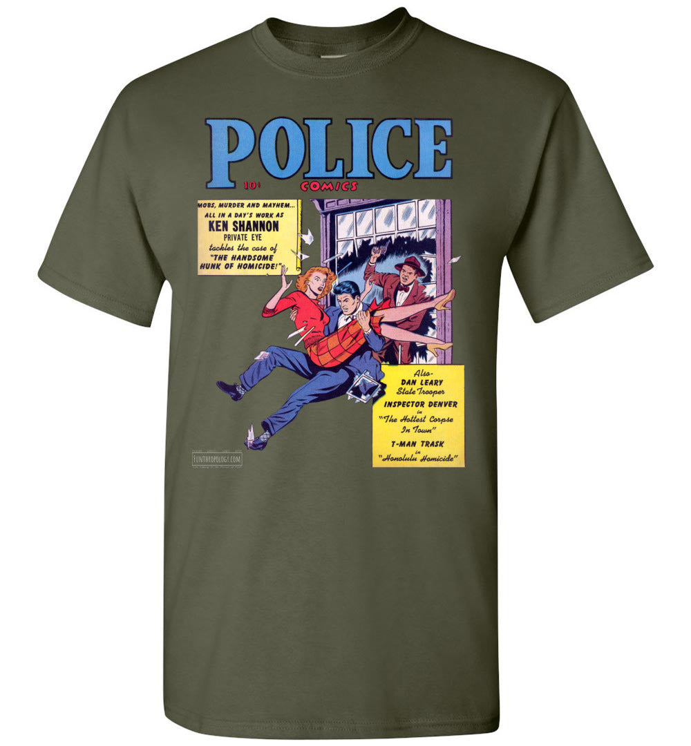 Police Comics No.104 T-Shirt (Unisex, Dark Colors)