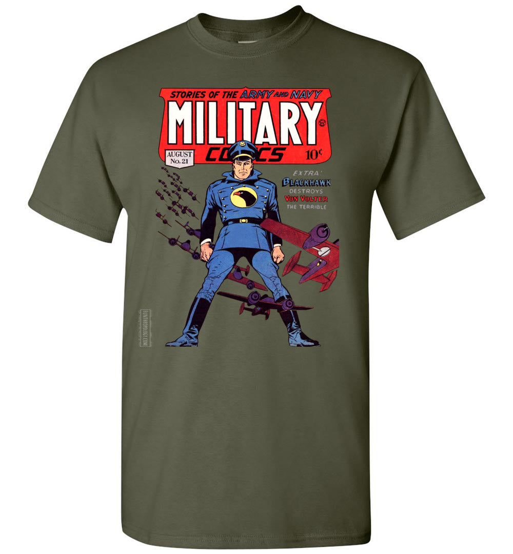 Military Comics No.21 T-Shirt (Unisex, Dark Colors)