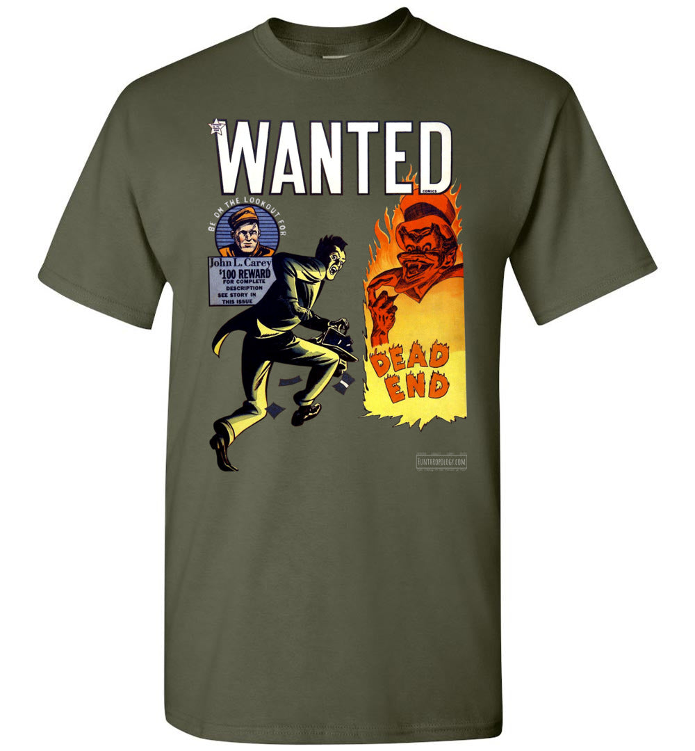 Wanted Comics No.34 T-Shirt (Unisex, Dark Colors)