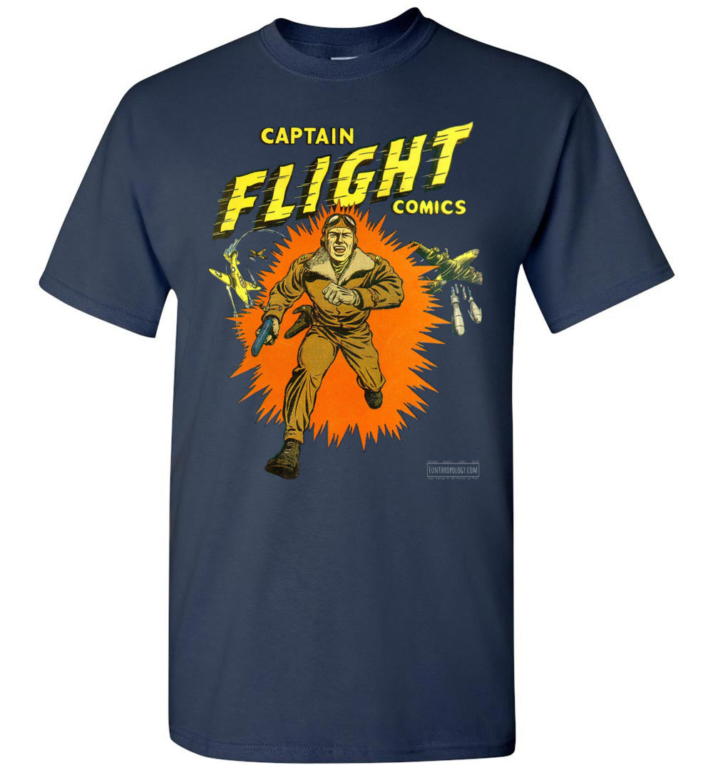 Captain Flight No.2 T-Shirt (Unisex, Dark Colors)