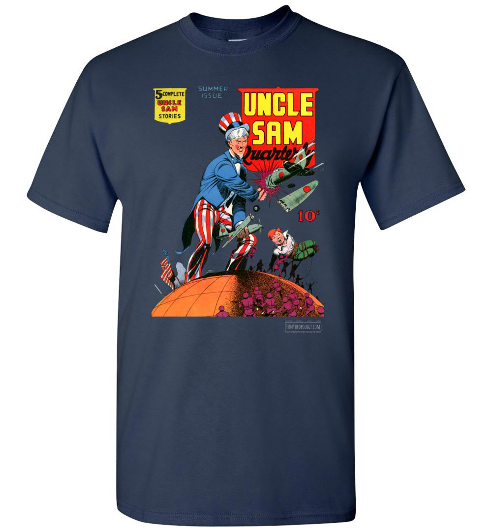 Uncle Sam Quarterly No.3 T-Shirt (Unisex, Dark Colors)