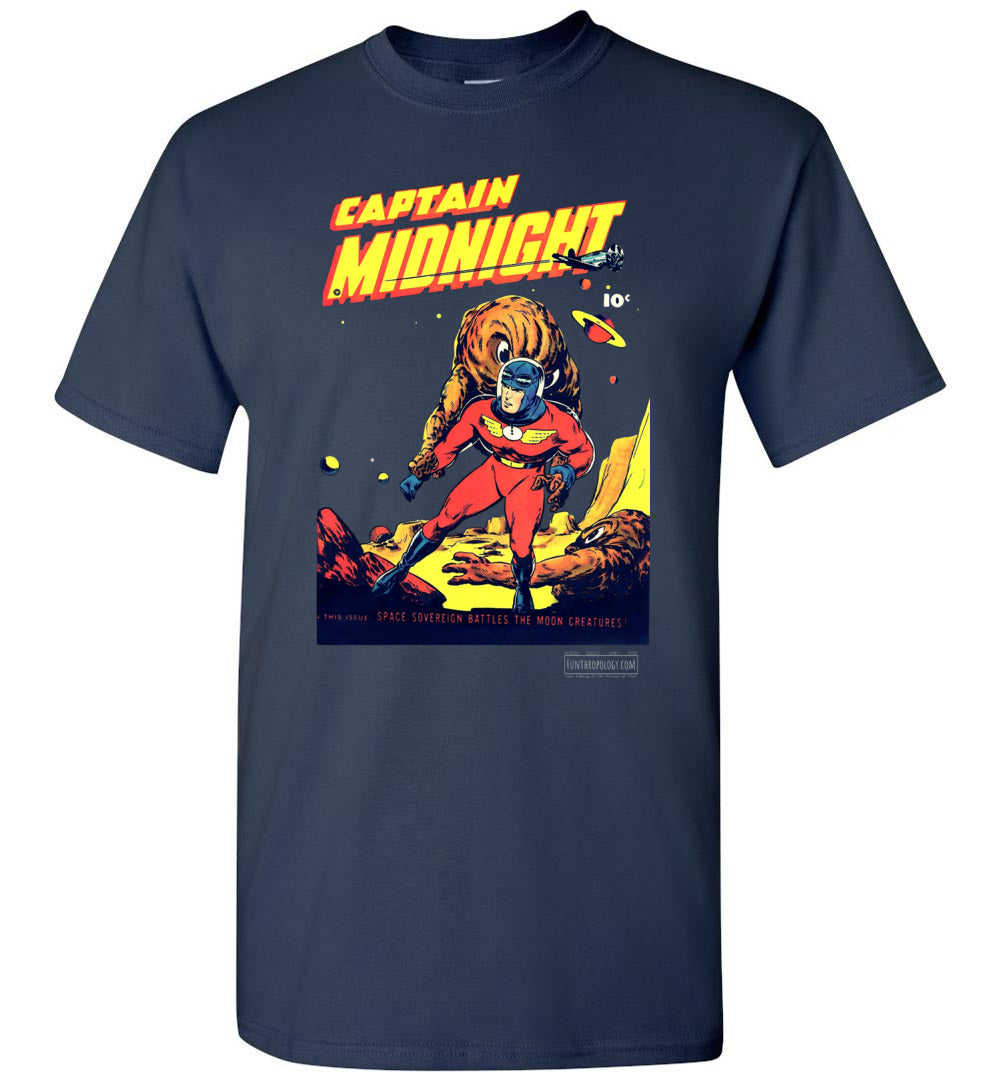 Captain Midnight No.50 T-Shirt (Unisex, Dark Colors)