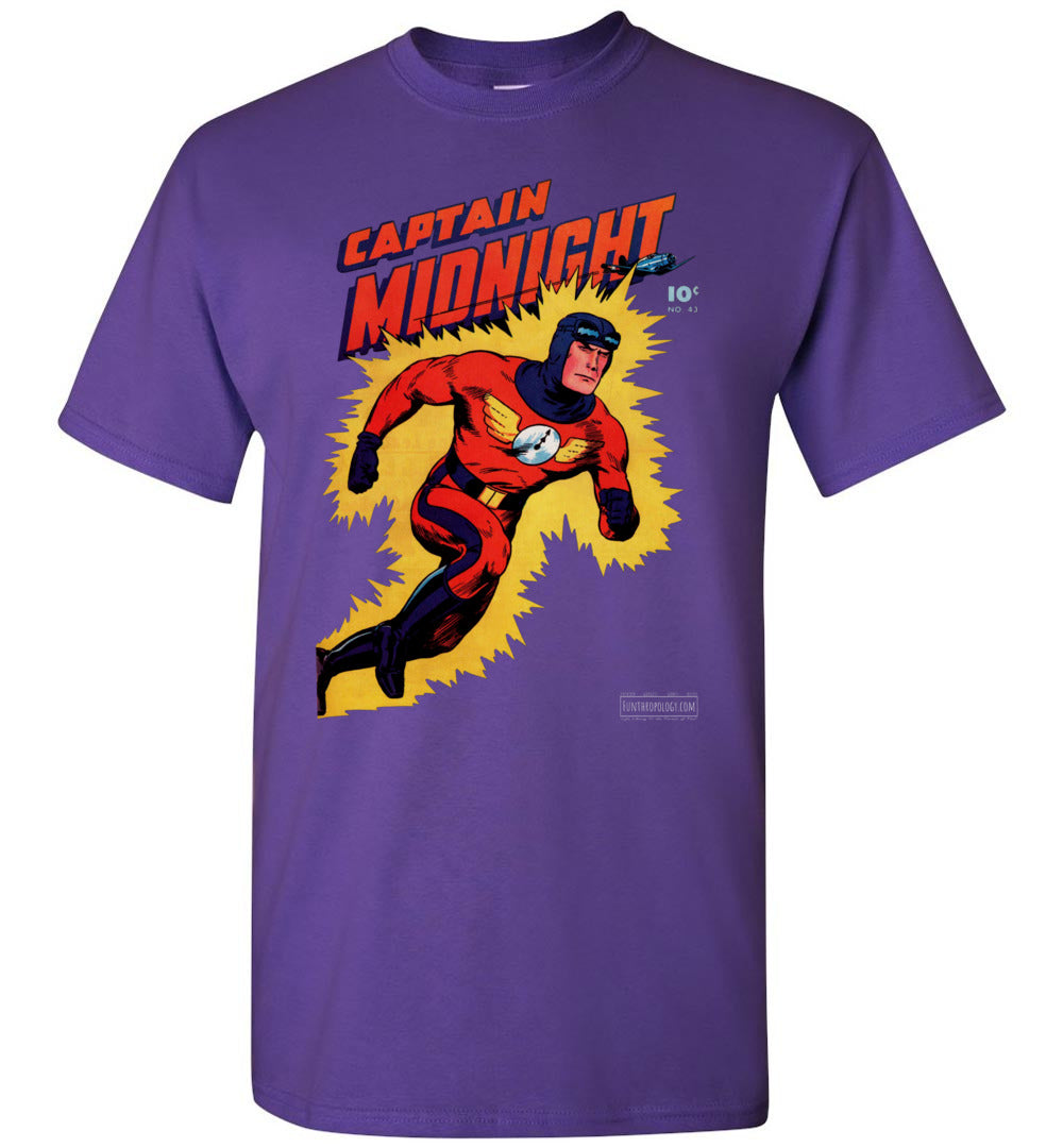 Captain Midnight No.43 T-Shirt (Unisex, Dark Colors)