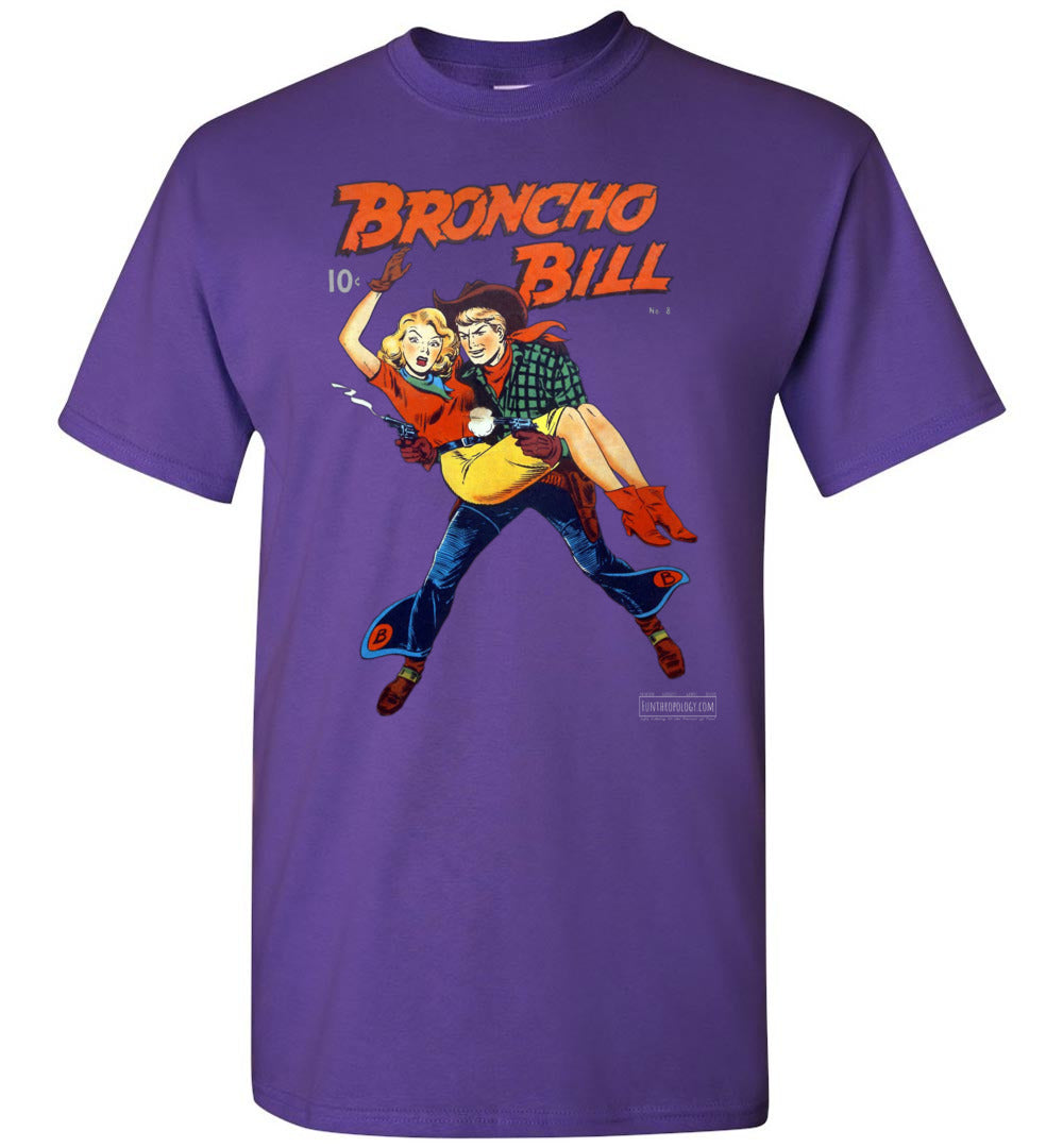 Broncho Bill No.8 T-Shirt (Unisex, Dark Colors)