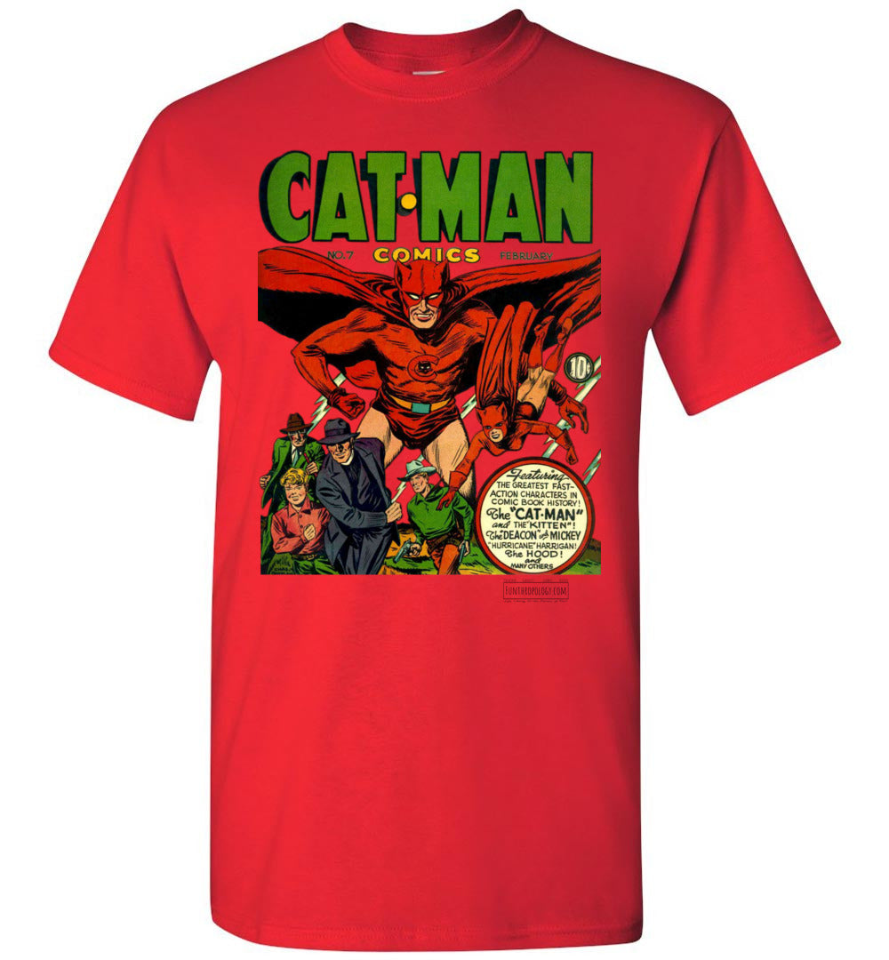 Cat-Man No.7 T-Shirt (Unisex Plus, Light Colors)