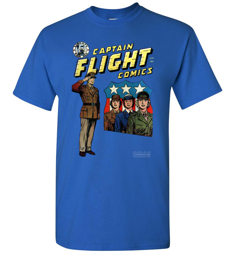 Captain Flight No.4 T-Shirt (Unisex, Dark Colors)