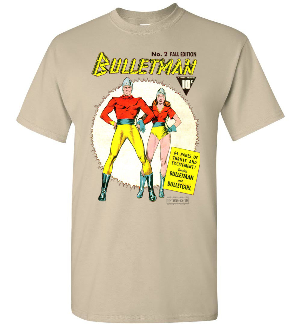Bulletman No.2 T-Shirt (Unisex, Light Colors)