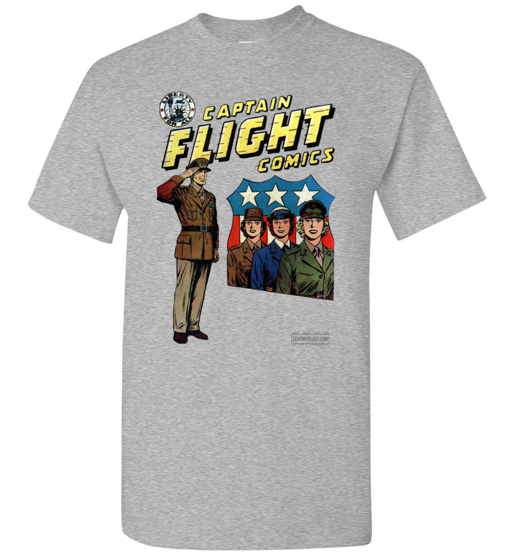 Captain Flight No.4 T-Shirt (Unisex, Light Colors)