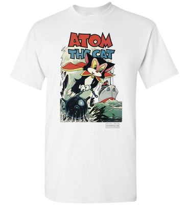 Atom The Cat No.10 T-Shirt (Unisex Plus, Light Colors)