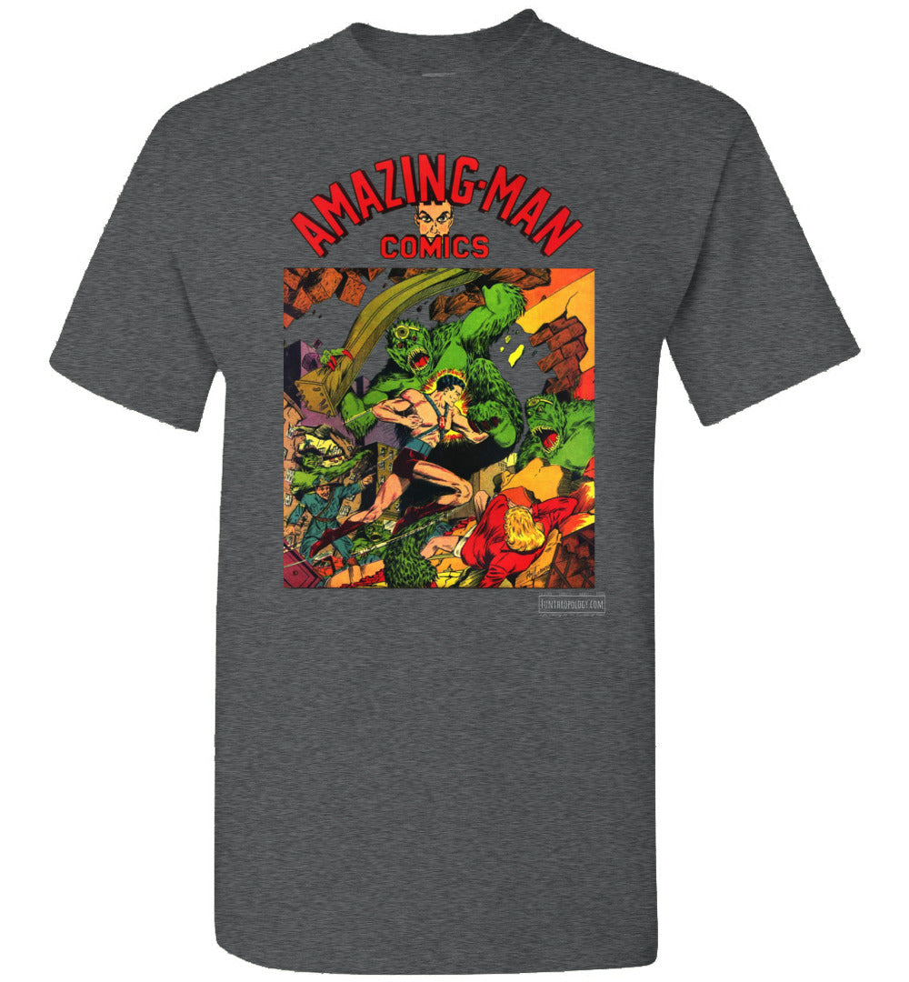Amazing-Man Comics No.22 T-Shirt (Unisex, Dark Colors)