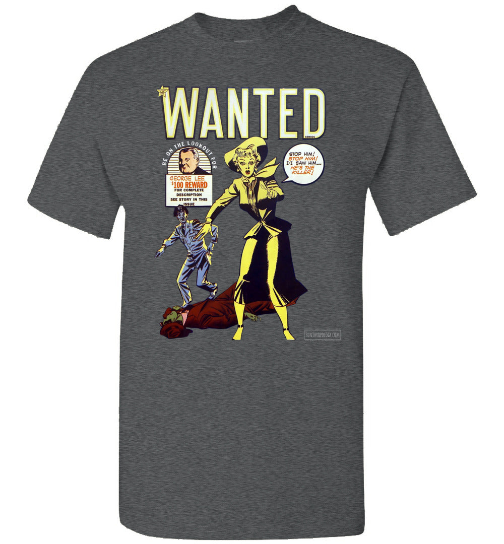 Wanted Comics No.30 T-Shirt (Unisex, Dark Colors)