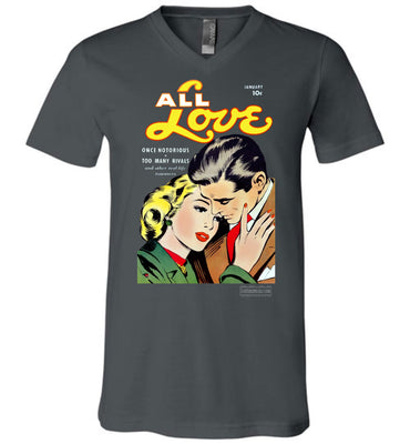 All Love No.30 V-Neck (Unisex, Dark Colors)
