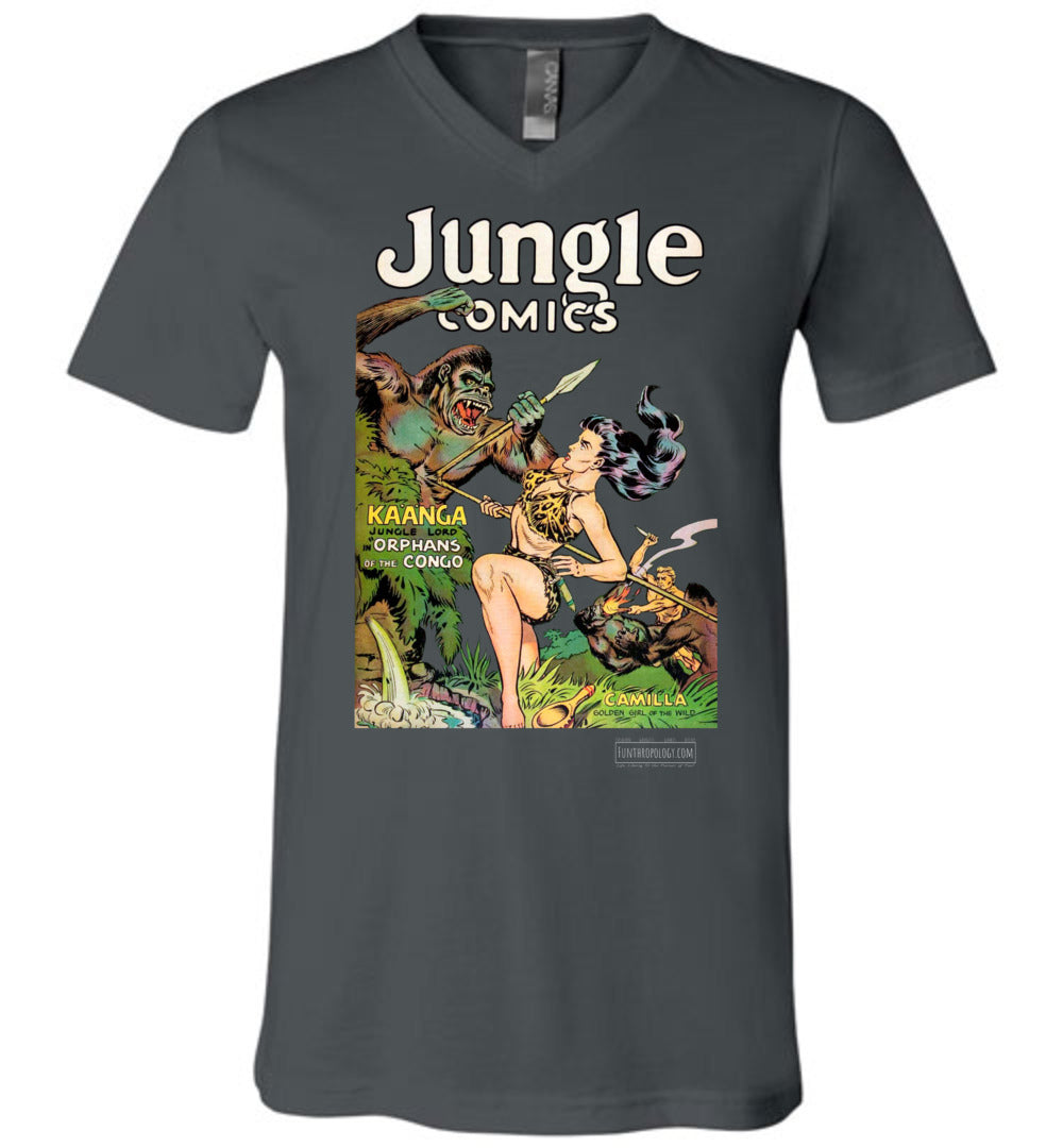 Jungle Comics No.146 V-Neck (Unisex, Dark Colors)