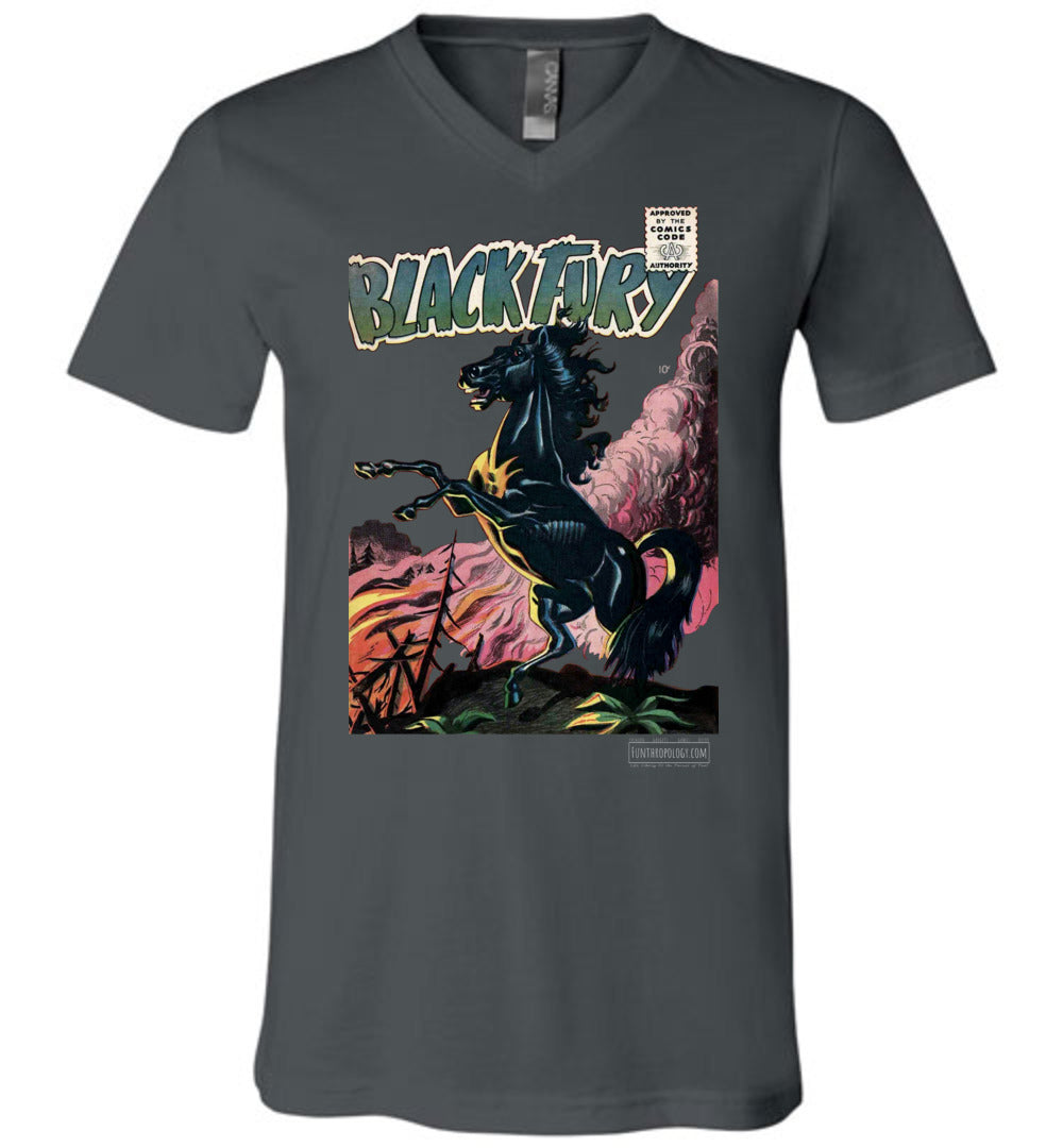 Black Fury No.1 V-Neck (Unisex, Dark Colors)