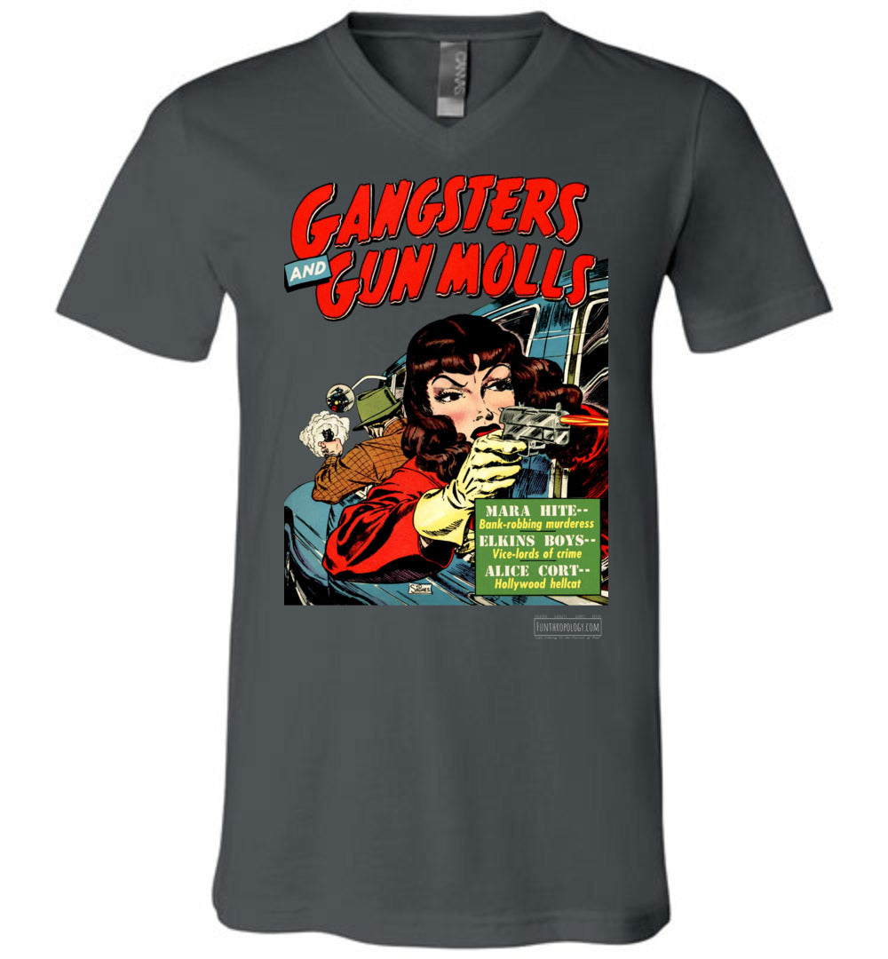 Gangsters And Gunmolls No.4 V-Neck (Unisex, Dark Colors)