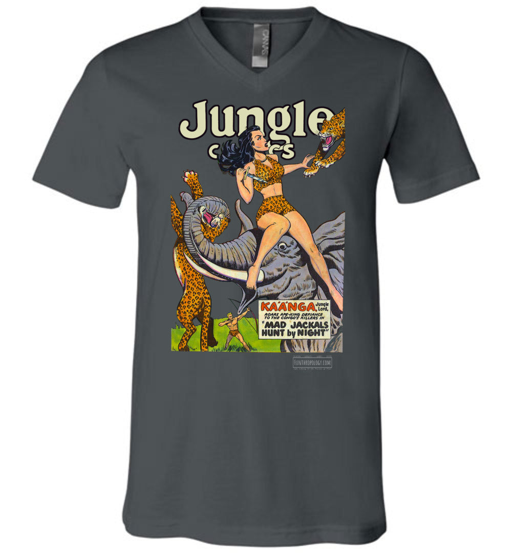 Jungle Comics No.114 V-Neck (Unisex, Dark Colors)