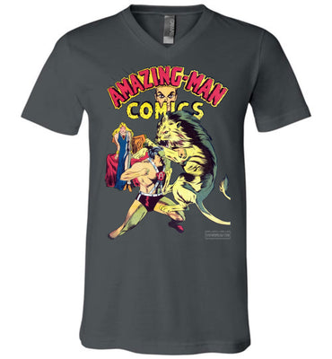 Amazing-Man Comics No.14 V-Neck (Unisex, Dark Colors)