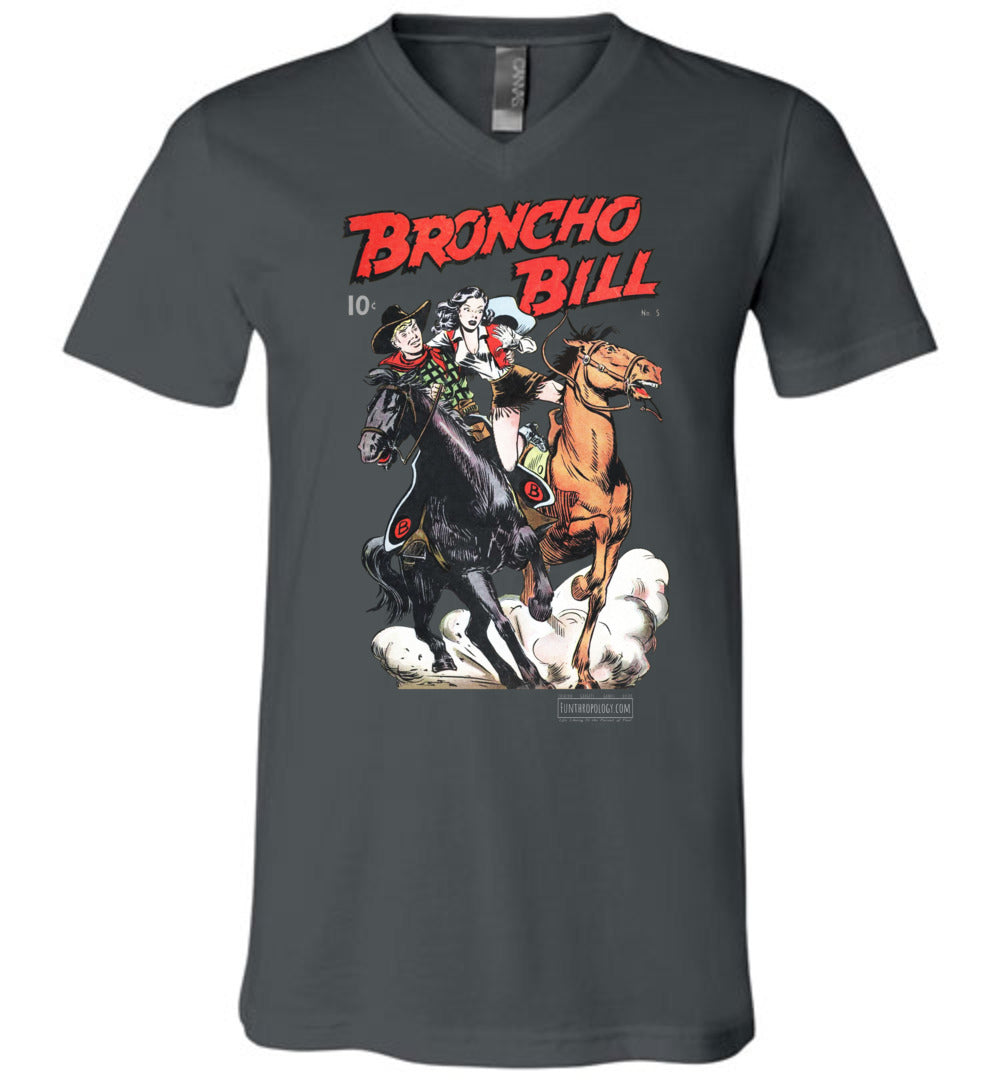 Broncho Bill No.5 V-Neck (Unisex, Dark Colors)