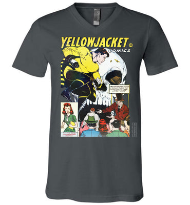 Yellowjacket No.7 V-Neck (Unisex, Dark Colors)