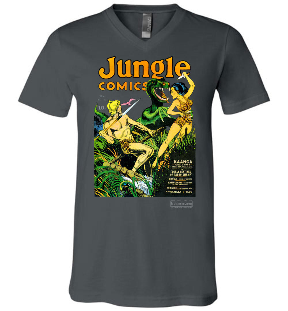 Jungle Comics No.37 V-Neck (Unisex, Dark Colors)